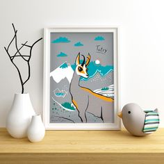 Original illustration by Gliniana Kura features Mountain Goat in Tatra Mountains in Poland. size ( 21 x cm) High quality digital print on mat paper 250 g Packed flat. Sold without frame. A4 Poster, Posters, Polish Mountains, Mat Paper, Tatra Mountains, Goats, Digital Prints, The Originals, Frame