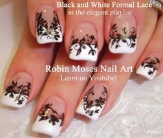 "Robin Moses Nail Art: ""pink and black nail art"" ""damask nail art ..."