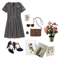Spicy Chai by alittlegrace on Polyvore featuring polyvore, fashion, style, Madewell, Sperry Top-Sider, J.Crew, Penguin Group, le mouton noir & co. and Essie