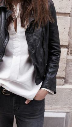 #madewell,  Leather done my way- cleanly, classically. I'm downright lusty over this effortless looking style.