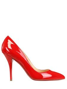 CHRISTIAN LOUBOUTIN - 100MM BATIGNOLLES PATENT LEATHER PUMPS - LUISAVIAROMA - LUXURY SHOPPING WORLDWIDE SHIPPING - FLORENCE