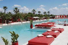 plage rouge piscine marrakech