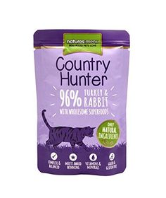 Natures Menu Country Hunter Turkey and Rabbit Complete Cat Food 6 x 85g (510g) *** You can get additional details at the image link. (This is an affiliate link) #MyPet