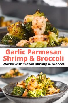 Garlic Parmesan Shrimp and Broccoli (make with frozen shrimp and veggies) - - This easy 30 minute sheet pan Roasted Shrimp and Broccoli dish garlic, Parmesan cheese, and red pepper flakes is delicious, healthy, and can be made from frozen. Low Sodium Recipes, Low Calorie Recipes, Diet Recipes, Cooking Recipes, Soup Recipes, Liw Calorie Meals, Low Calorie Easy Meals, Low Carb Cheap Meals, Carb Less Meals