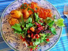 renate goes vegan: Tofuscheiben in Tomatensoße