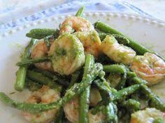 Gluten Free in Montana: Dairy Free Pesto Asparagus & Shrimp