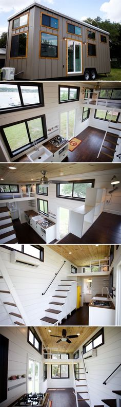 From Nomad Tiny Homes is this custom 28-foot tiny house located along Lake Travis, just west of Austin, Texas.