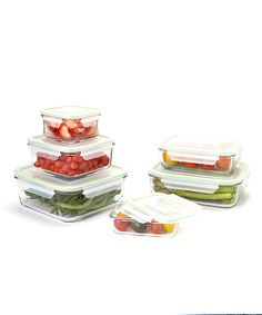 Another great find on #zulily! Rectangular & Square Glasslock Six-Piece Container Set #zulilyfinds
