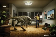 Panasonic 3D TV print advertisement.