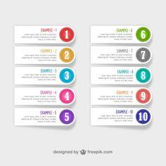Numberd libre de diseño de etiquetas