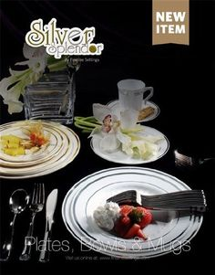 Bulk, Wedding Disposable Plastic Plates, silverware and wine cups ...