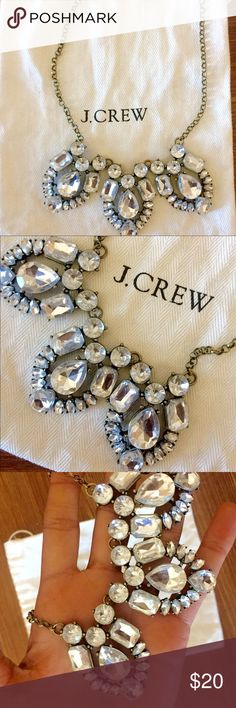 J.Crew cluster trio necklace Crystal necklace (shorter length) with trio of crystal clusters. Looks great dressed up or down. J. Crew Jewelry Necklaces