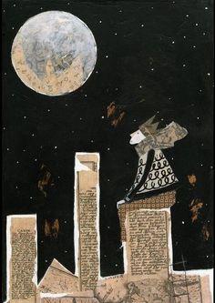 """""""Que haverá com a lua que sempre que a gente a olha é com o súbito espanto da primeira vez?"""" Mario Quintana"""