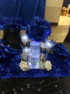 Main Table Centerpiece. Royal Blue ...