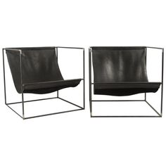 Pair of Leather Slinged Iron Cubed Chairs is part of Cube chair - View this item and discover similar for sale at Pair of leather slinged chairs with iron cubed frame High Back Dining Chairs, Blue Velvet Dining Chairs, Small Chairs, Cheap Office Chairs, Cheap Chairs, Folding Lounge Chair, Swivel Chair, Chair Cushions, Cube Chair