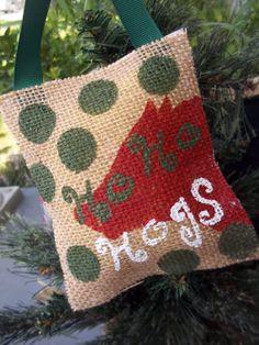 Arkansas Razorback Hog Fan Burlap Christmas by ELouiseBoutique, $6.25