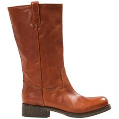 "Eva Light Brown ""Cuoio"" Nappa Leather Half Boots from PaoloShoes.com"