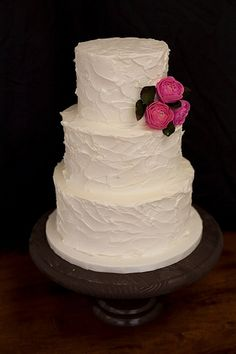 Rustic Buttercream with Sugar Ranunculus