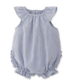Amazon.com: Petit Bateau Baby Striped Bubble with Ruffles, Gray/White, 18M…