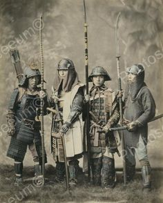 Group Of Samurai Soldiers Preparing For Battle Vintage 8x10 Reprint Of Old Photo