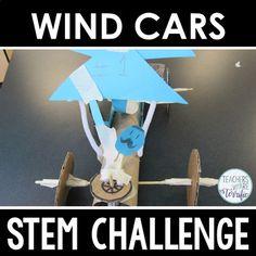 STEM Challenge Wind-Powered Car by Teachers Are Terrific Wind Power, Solar Power, Wind Car, Stem Teacher, Stem Projects, Engineering Projects, Power Cars, Power Energy, Stem Challenges