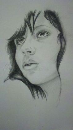 Portrait drawing of myself