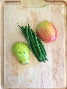 Pear + Apple + Green Bean baby food puree recipe