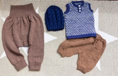 Strikking - guttestrikk Knitting for a boy, brown and blue Crocheting, Diy And Crafts, Knit Crochet, Baby Kids, Knitting, Brown, Sweet, Bebe, Crochet