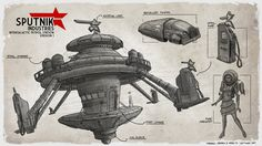 Sputnik Industries - Petrol Station Design by freakyfir.deviantart.com on @DeviantArt