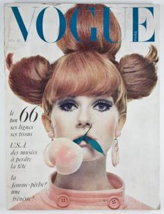 """French Vogue Cover, Guy Bourdin,   Browser Link Here """"Elegantly Papered archive"""""""