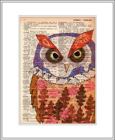Owl on book page....fabulous. :)
