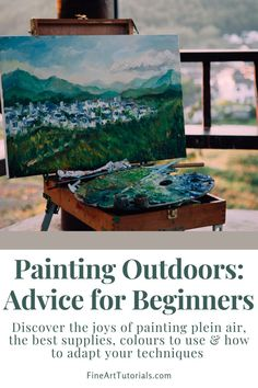 The atmosphere you can achieve in a painting by observing the landscape in front of you is incomparable. Find our plein air tips in this guide. #pleinair #paintingoutdoors #pleinairpainting #enpleinair #oilpainting #acrylicpainting #paintingtips #arttutorials #paintingtutorails #howtopaint Learn Art, Learn To Paint, Painting Tips, Painting & Drawing, Art Tips, Art Tutorials, Paint Colors, Improve Yourself, Colours