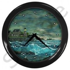 Bill Hobson's Lighthouse - Ave Hurley - Wall Clock (Black)