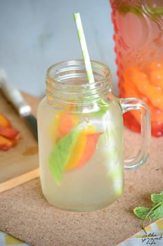 How to make apricot mint infused water. Great detox drink.