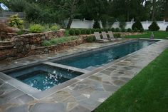Back Yard Lap Pools With Creative Decoration Swimming Pools Design Ideas