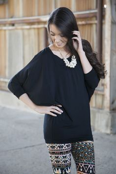 6f6e53a5a24d 3 4 Sleeve Modal Ultimate Leggings Tunic. Ash Huang · wares to wear