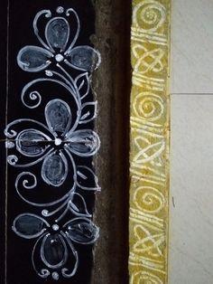 Rangoli Side Designs, Rangoli Borders, Free Hand Rangoli Design, Small Rangoli Design, Colorful Rangoli Designs, Rangoli Designs Diwali, Beautiful Rangoli Designs, Simple Rangoli, New Year Rangoli