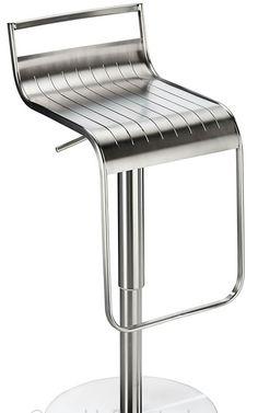 Beautiful Celestial Brushed Stainless Steel Kitchen Breakfast Bar Stool Height  Adjustable