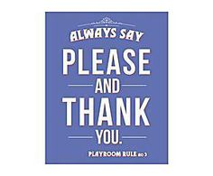 Cartel decorativo impreso Always say please