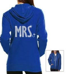 "Rhinestone ""Mrs."" zip hoodie"