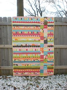 Jelly roll + charm pack = quick afternoon quilt.
