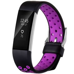 Fitbit Charge 2 HR Replacement Wristband Adjustable Band Black-Purple Small New   Sporting Goods, Fitness, Running & Yoga, Fitness Technology   eBay!