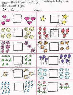 math worksheet : 1000 images about greater than less than on pinterest  comparing  : Greater Than Less Than Worksheets Kindergarten