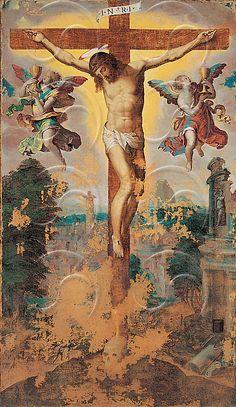 Livio Agresti (Il Ricciutello), The Crucifixion, 16th century