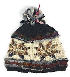73dcc5d5a18 Hand Knit Womens Wool Pom Pom Hat Warm Fleece Lined Nepal – Caps   Hats for  Everyone
