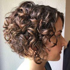 **** really like****Short Curly Caramel Brown Bob Haircuts For Curly Hair, Curly Hair Cuts, Short Bob Hairstyles, Curly Hair Styles, Pixie Haircuts, Medium Hairstyles, Braided Hairstyles, Wedding Hairstyles, Hairstyles 2016