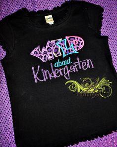 Girls Wild about Kindergarten Shirt or Dress by BIndulgedBoutique, $25.00
