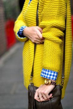 chunky Yellow knits