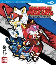BackAbout Samurai Pizza Cats Blu-ray This Samurai Pizza Cats collection contains episodes 1-52. It's felines fighting felons in this fantastic furry farce! A mixed-up city of old and new, Little Tokyo is an old-fashioned Japanese city populated by robotic animals, where samurai cats working out of a pizzeria punish packs of pugnacious pillagers all to protect the peace of the people. They've got their work cut out for them, for in between the speedy delivery of pizza pies, the dirty rat…