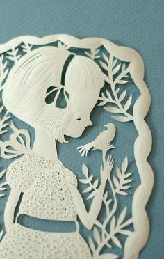 I adore this medium.    Elsa Mora papercut.